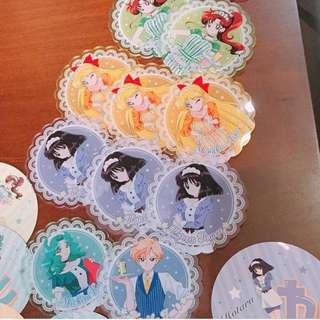 美少女戰士 Sailor Moon Cafe 限定杯墊 亞加力膠杯墊