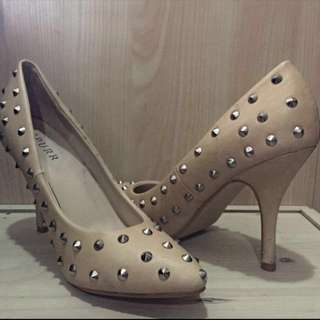 Studded Pointy Heels