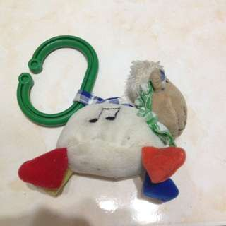 Musical soft toy with hook