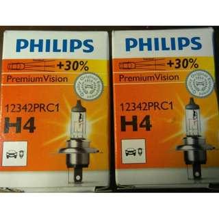 PHILIPS 飛利浦 Premium Vision 加強 +30% 12V 60/55W H4 HS1 勁戰 大燈
