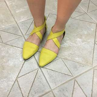 Alexandra Wang Yellow Sandles