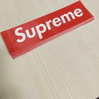 Supreme red box logo stickers