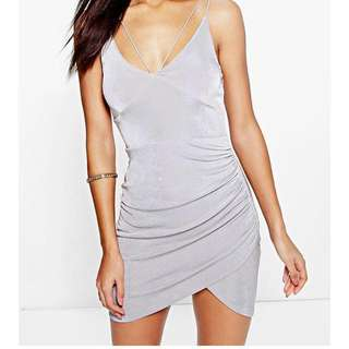 Strappy Silver Bodycon Dress BRAND NEW WITH TAGS!