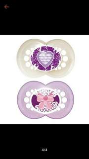 MAM Original Pacifier Twin Pack - Love and Ribbon