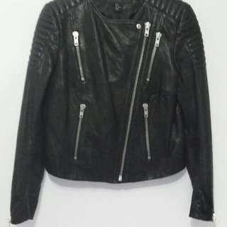 H&M LEATHER RIDER JACKET Size_36