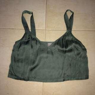 Asos khaki silk crop