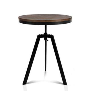 Industrial Dining Table Dark Brown and Black SKU: BA-TW-V17-COF-TAB