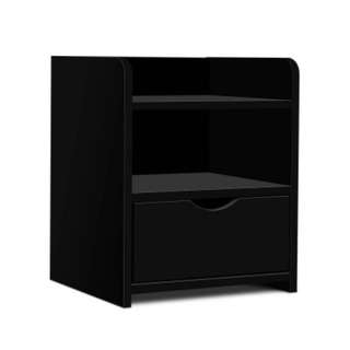 Bedside Table Drawer Black SKU: FURNI-C-BS-TOGO-BK