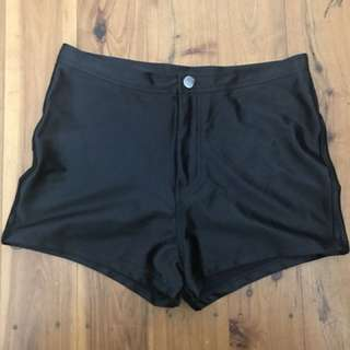 Black Disco shorts Size 10
