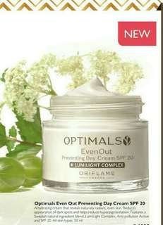Oriflame optimals evenout day cream