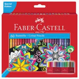 Faber Castell Colour Pencils 60 Colors set