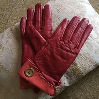 Ted baker 紅色皮手套