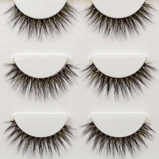 3 Pairs of Fluffy 3D Lashes