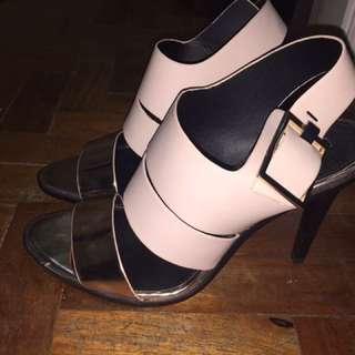 Zara blush pink heels
