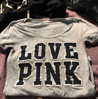 XS pink tee