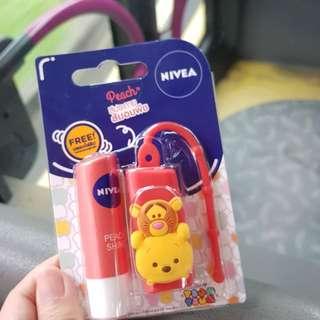 Nivea lip balm with winnie the pooh holder