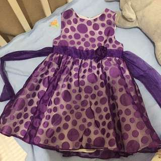Purple Polka Dress | 3T