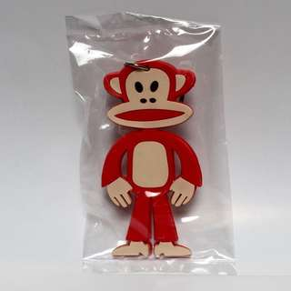 Julius's Monkey Cheeky Red Rubber Keyring
