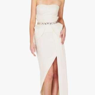 Sass&Bide cream high low dress