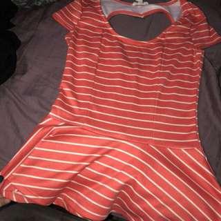 Orange dressy shirt