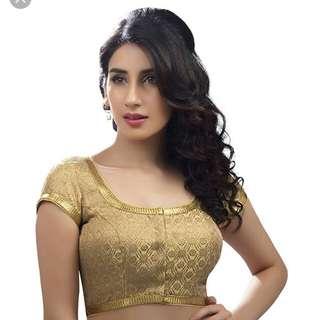 Golden Designer Saree Blouse