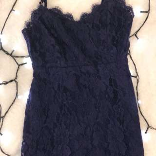Missguided (size 4) blue Knee length dress!