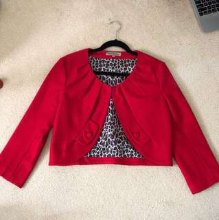 Cropped tailored jacket