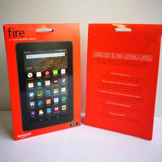 🆕 Amazon® Kindle Fire 7 (5th Generation), With SanDisk 32GB Memory Card for Fire Tablet and Fire TV