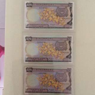 Orchid $25 notes