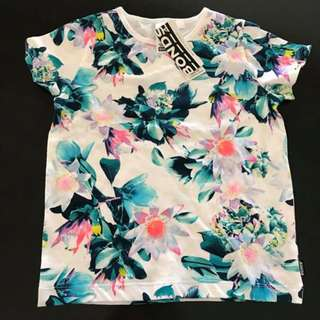 NEW with tags Bonds Size 5 girls tshirt tee floral print
