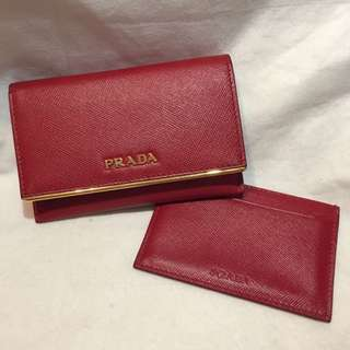 Prada Leather Card Holder / Small Wallet 真皮卡片套/小銀包