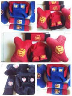 Bantal mobil 3in1 bordir logo club bola