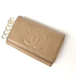 Chanel Car Key Beige Caviar