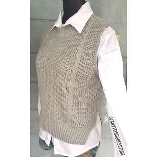 2pc. Thick Knit with Inner White Polo (comes with separate white polo)