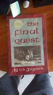 The final quest by rick Joyner #Contiki2018