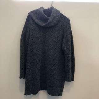 Oversized wool knit