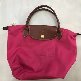 LONGCHAMP Pink Le Pliage Small Tote Bag