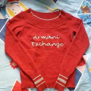 Armani 紅色毛衣