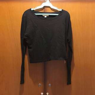zara crop long sleeves