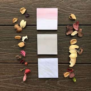 square marble/granite/pink white tiles post its