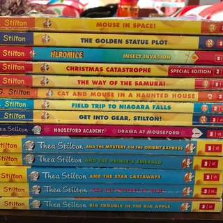 Thea and Geronimo Stilton books