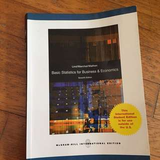 Basic statistics for business and economics (7th edition)