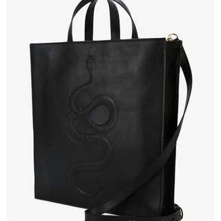 Gucci Snake Embossed soft Leather Handbag