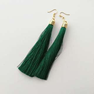 Tassel Drop - green