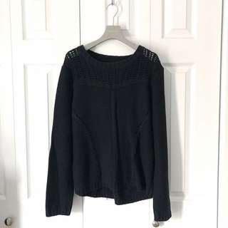 BLACK KNITTED SWEATER, SUITE BLANCO.