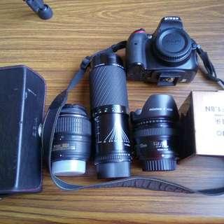 Nikon D5100 + 3 lens no damage 95% Almost new