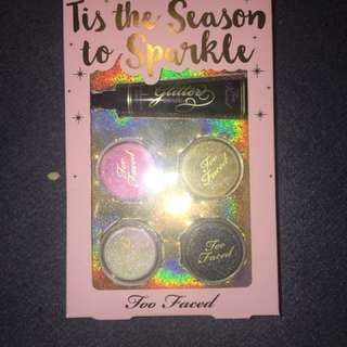 Too faced tis the season to sparkle eye glitter set