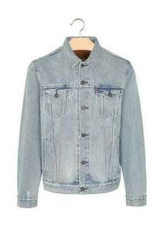 Lf: Light Wash Denim Jacket for men
