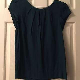 Zara green blouse shirt XS