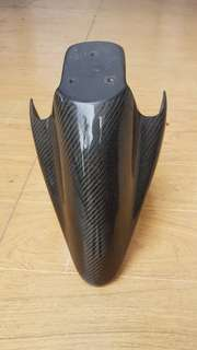 Mio (Sporty) black carbon fiber front fender